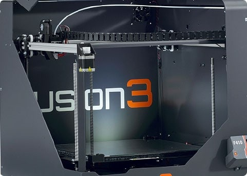 Fusion3 F410 3D printer comes with a rigid metal enclosure, ensuring safety and high performance fast 3D printing
