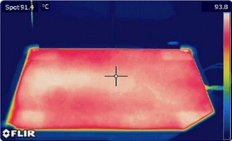 Infrared Image of the F410 Heated Print Bed