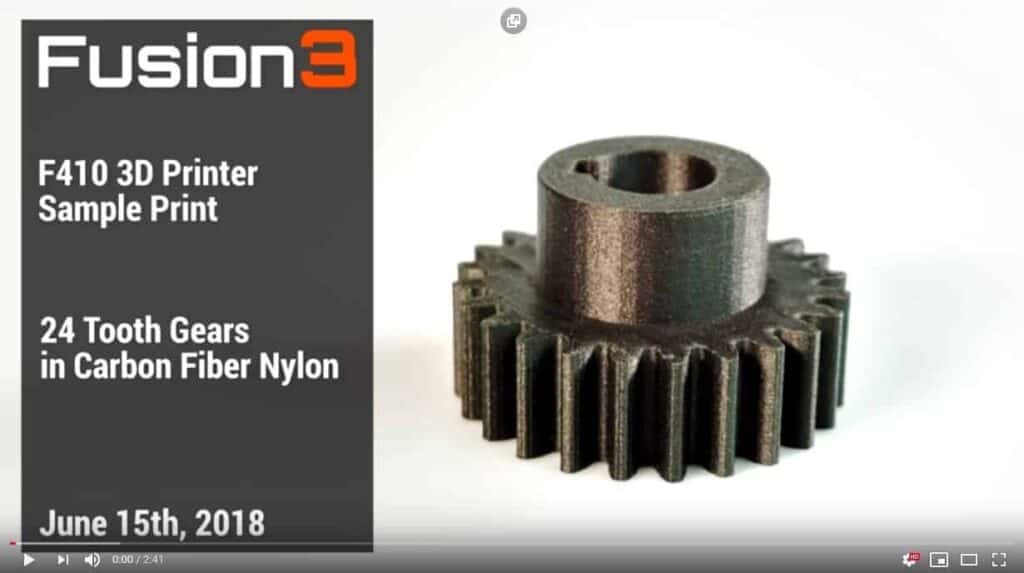 carbon fiber 3D printed part video