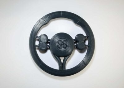 3D Printed Steering Wheel In ABS - Fusion3 F410 3D Printer - 4