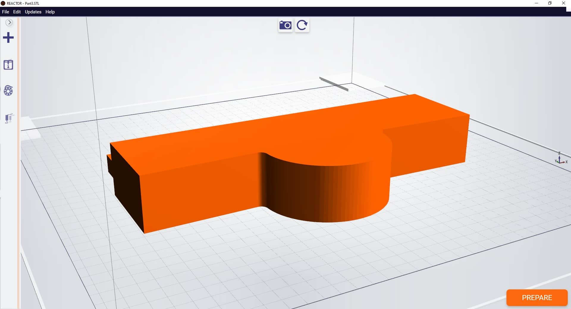 STL file with right amount of curves