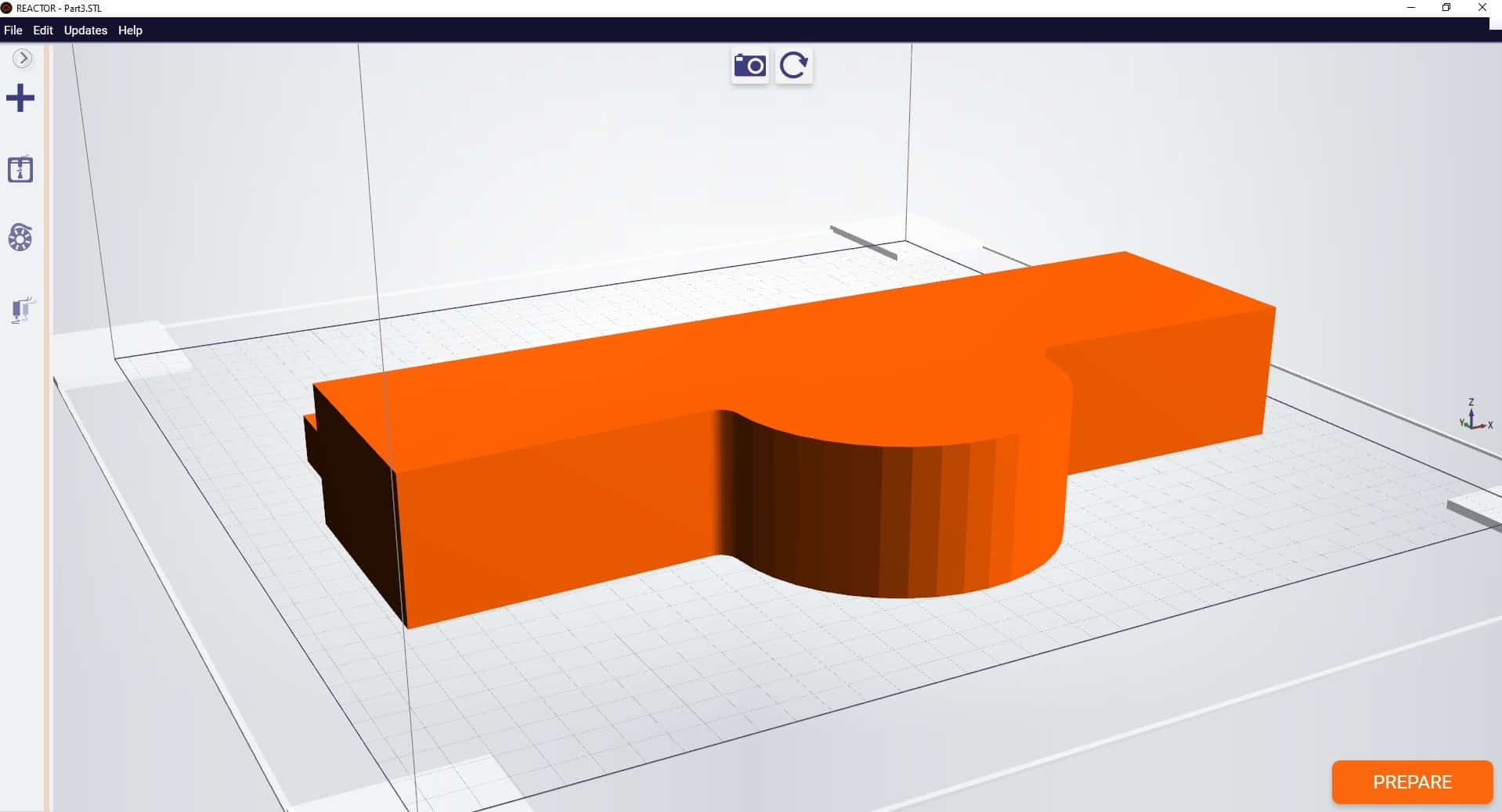 STL model with too few curves